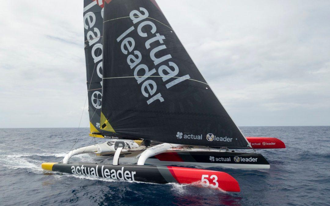 Ultime : La Rolex Fastnet Race à bord d'Actual Leader avec Yves Le Blévec