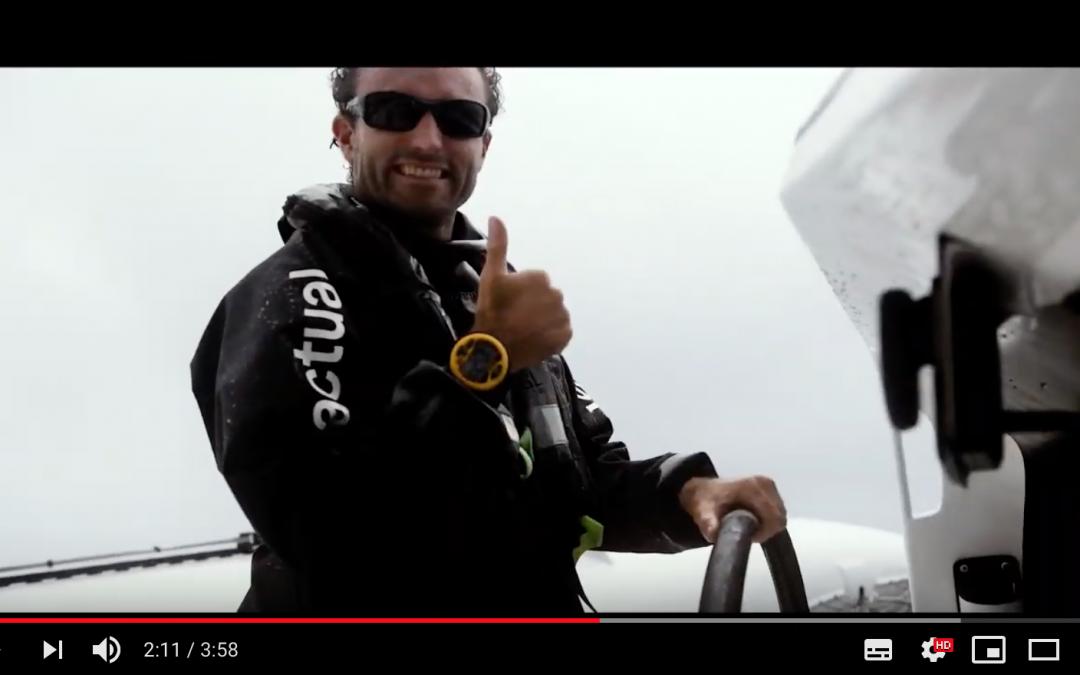 4e de la Fastnet race 2019 à bord de l'Ultime Actual Leader de Yves Le Blevec !